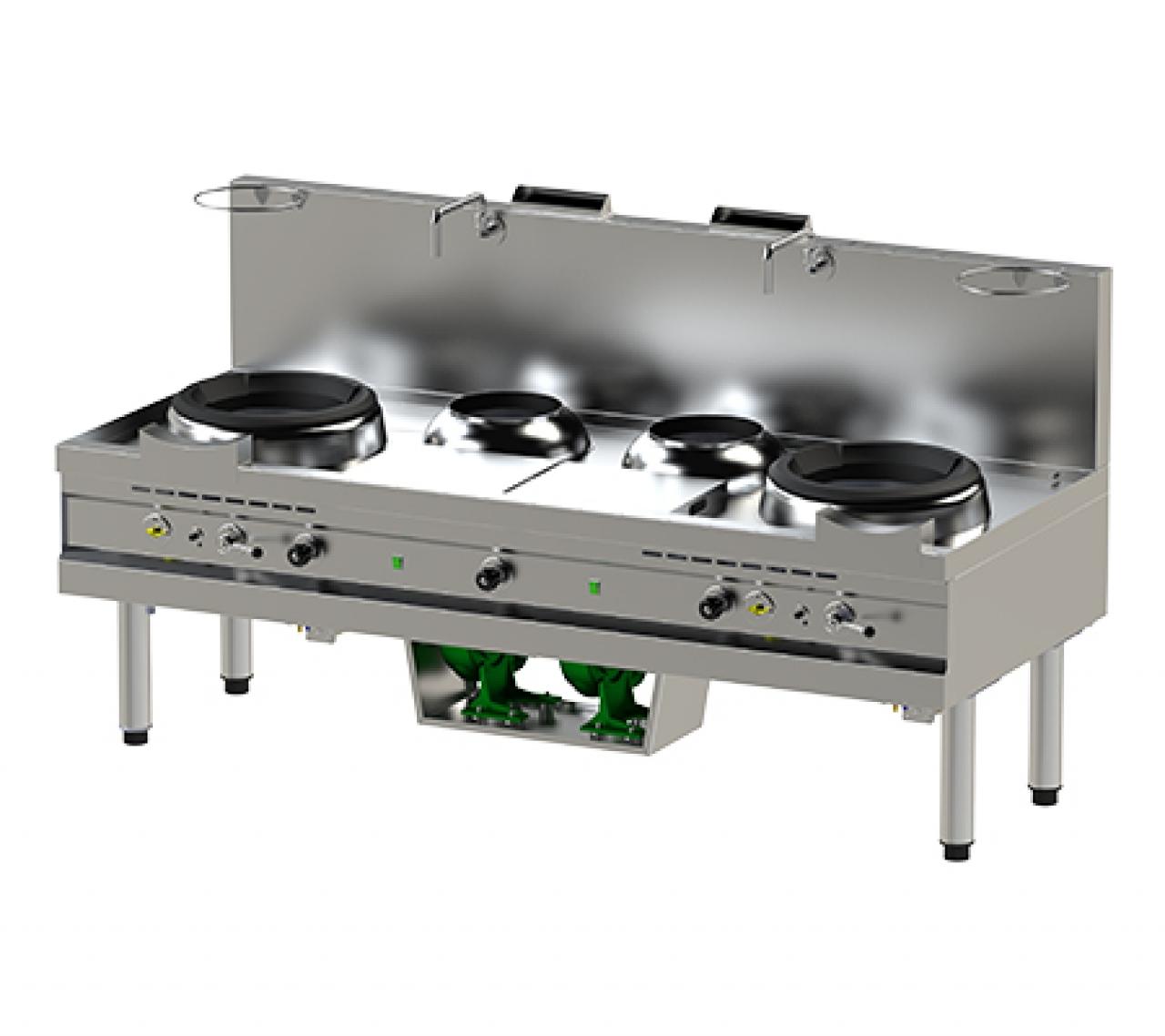 Turbo wok 2x 40kW