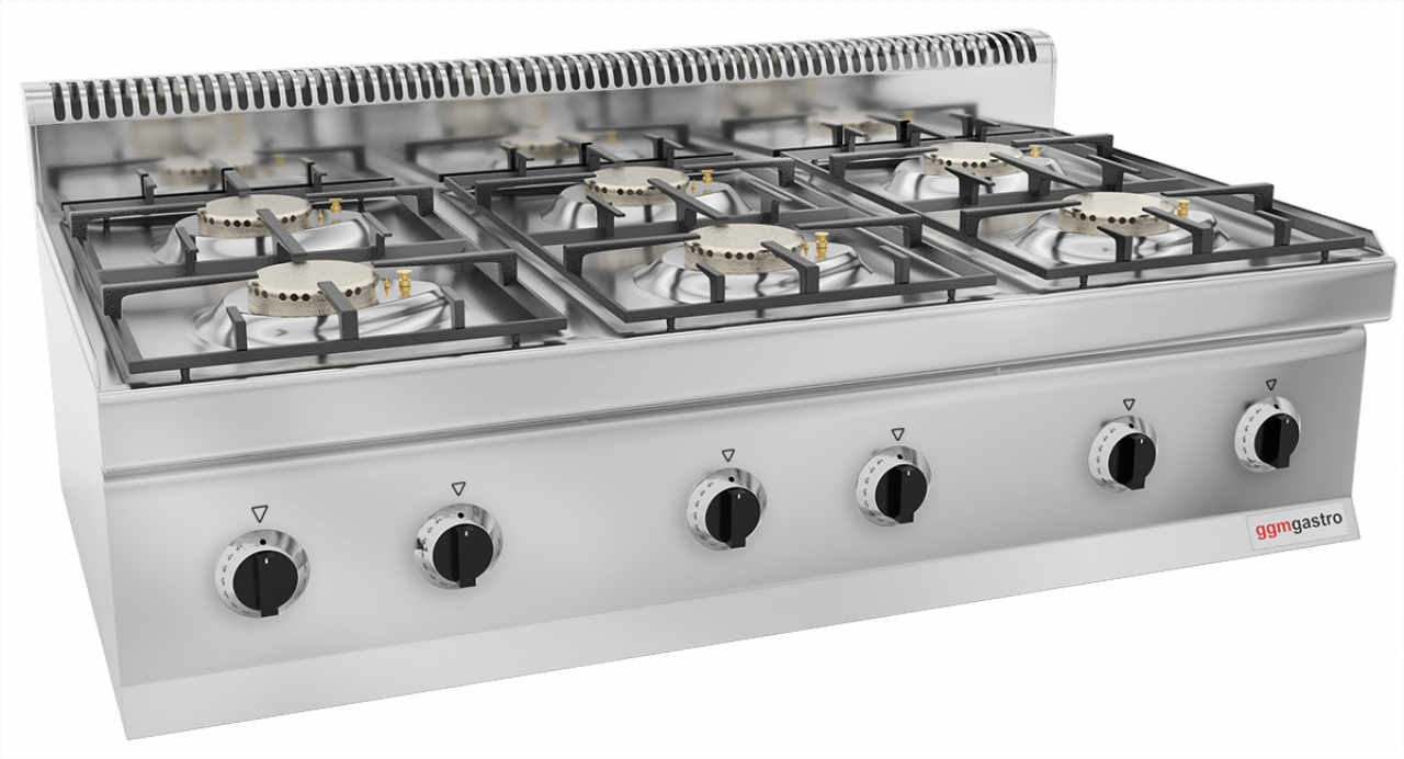 Gas stove 6x burners 33,5kW