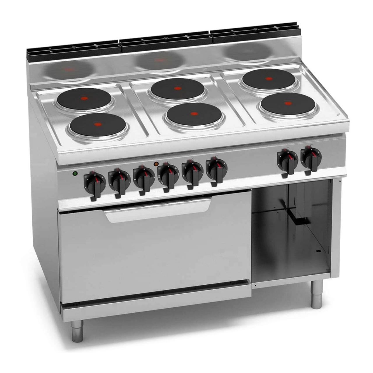 Electric stove 15,6 kW + Electric stove static 7,5 kW