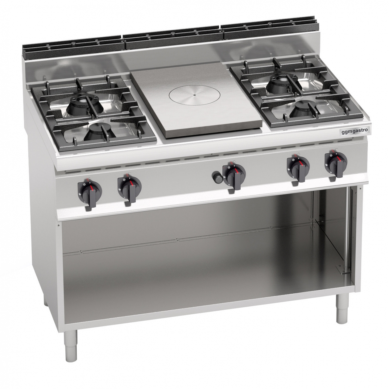 Gas stove 4 burners 1 plate 28kW