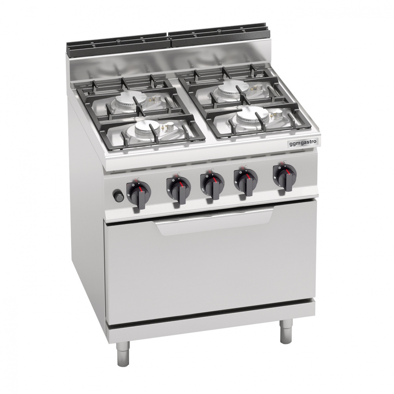 Gas stove 4 burners 21.5kW + Oven 7.8kW
