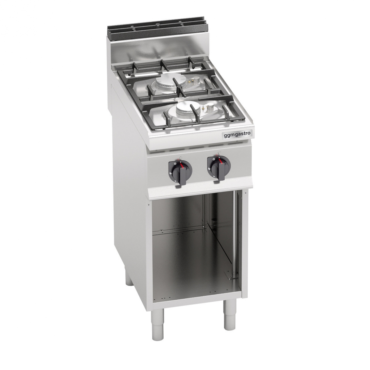 Gas stove 2 burners 9.5 kW electronic ignition