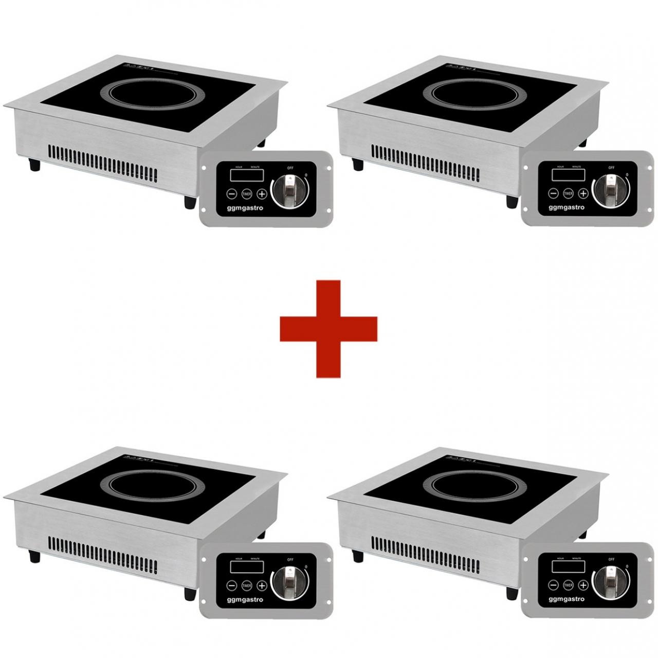 Induction cooker 4 pcs set 3.5 kW