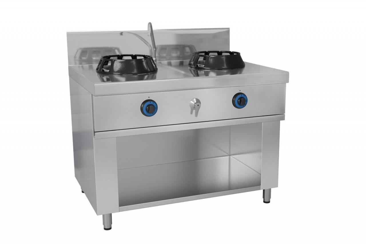Wok stove 2 x gas