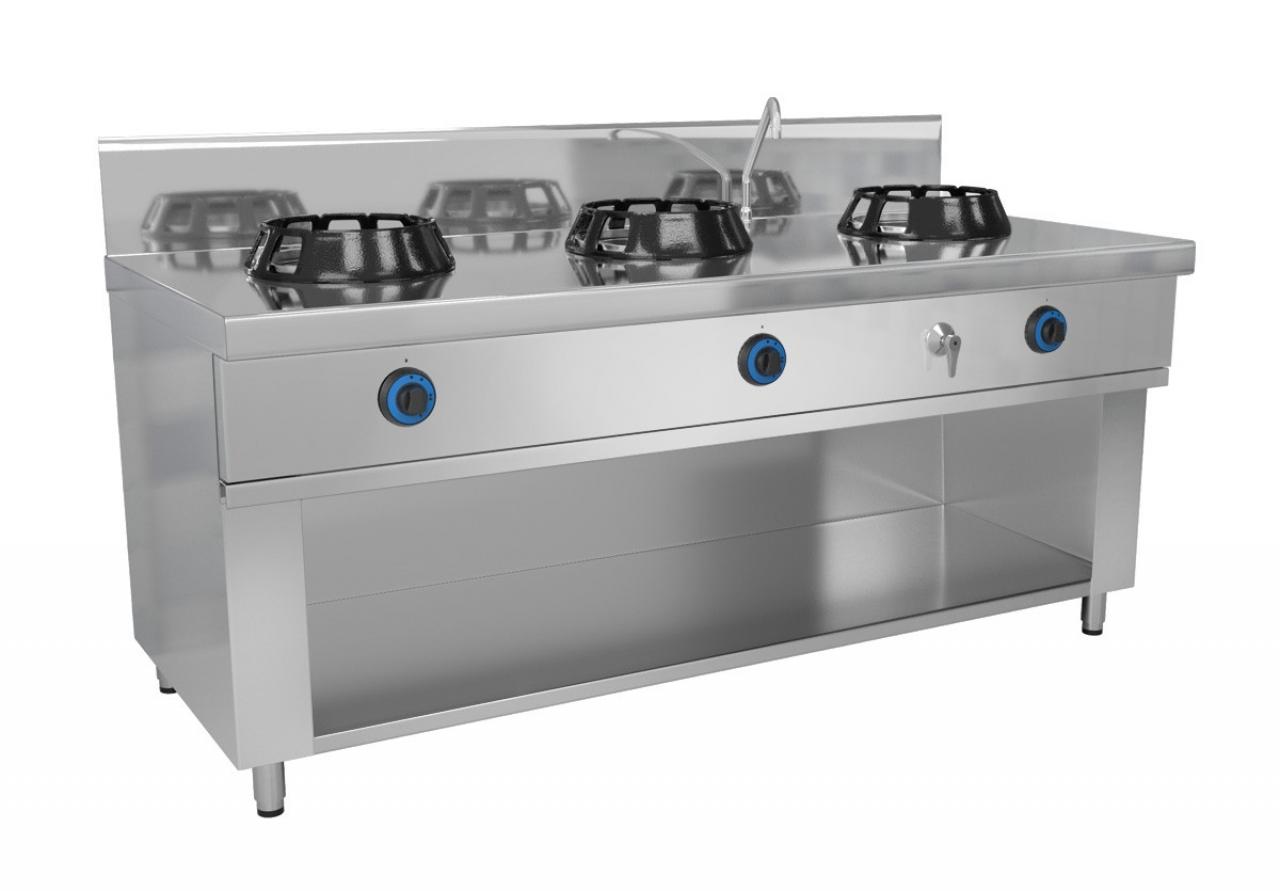Wok stove 3 x gas