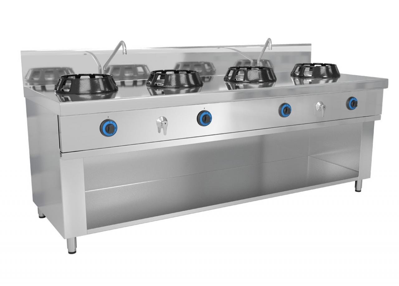 Wok stove 4 x gas
