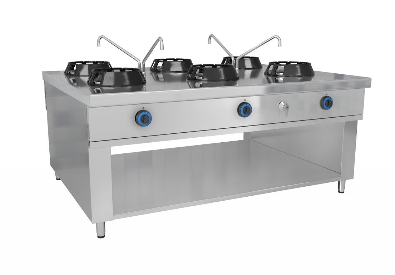 Wok stove 6 x gas
