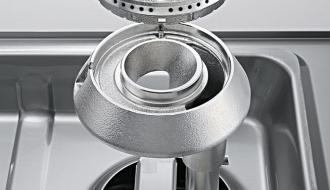 Gas stove 2 burners 1 plate 17.5 kW