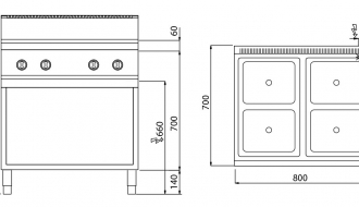 Induction cooker 14kW