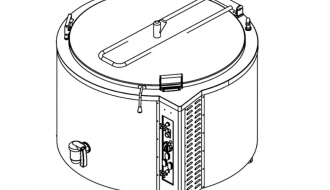 Gas boiler 400L