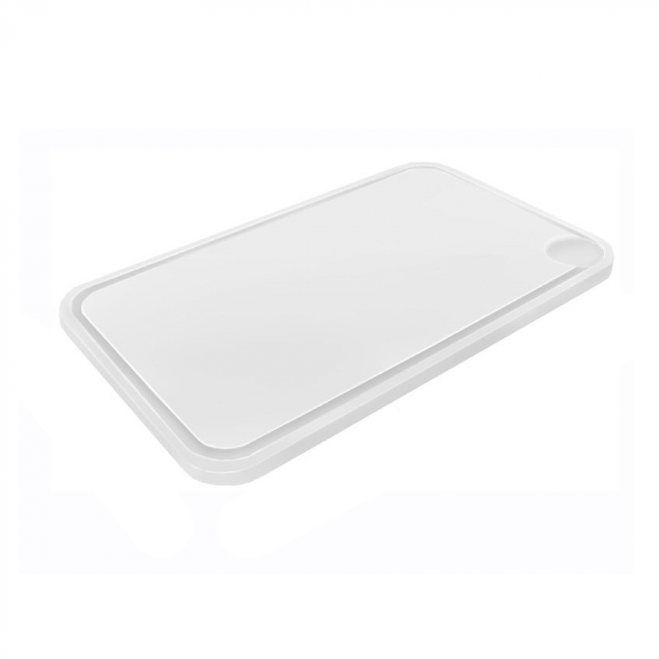 Cutting board with groove 40x60cm white
