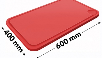 Cutting board with groove 40x60cm red