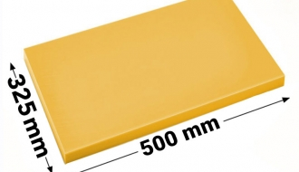 Cutting board 50x32,5cm yellow