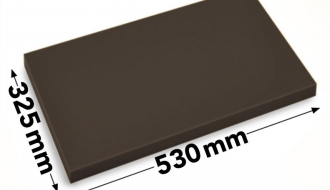 Cutting board 50x32,5cm brown