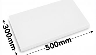 Lõikelaud 30x50cm valge