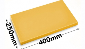 Cutting board 25x40cm yellow