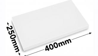 Cutting board 25x40cm white