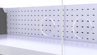 Wandkühlregal - 1,1 x 0,85 m - Schwarz - mit 4 Ablagen - 0,8 TIEF