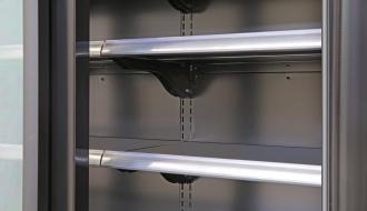 Wandkühlregal - 840 Liter - mit 4 Regalböden - Schwarz PLUS