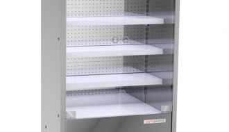 Wall cooling shelf - 1.1 x 0.7 m - with 4 shelves