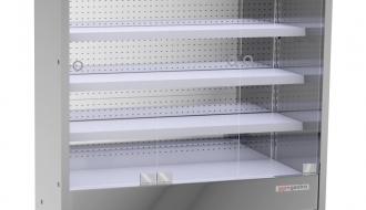 Wandkühlregal - 1,6 x 0,7 m - mit 4 Ablagen - 0,7 TIEF