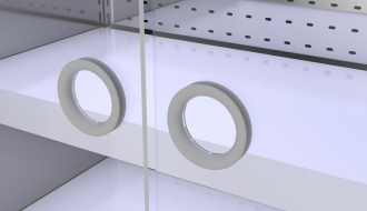 Wall cooling shelf - 2.5 x 0.85 m - with 4 shelves