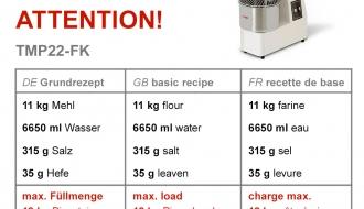 Taignasegaja 22 liitrit / 18 kg / + 2 kiirust - 400 volti